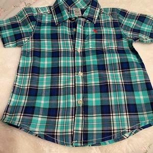 Carters Boys 24 months plaid button down shirt